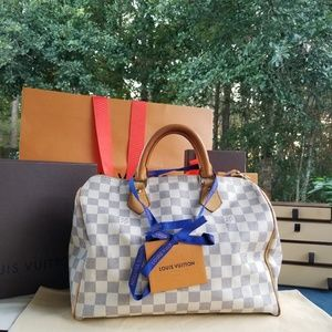 Louis Vuitton speedy Damier azur Genuine